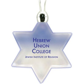 Lighted Pendant Necklace - Star of David