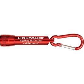 Lightning Carabiner Flashlight Imprinted with Your Logo