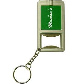 Company Light Up Bottle Opener Keychain