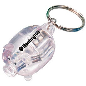 Personalized Light Up Piggy Keychain