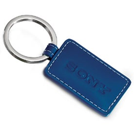 Limelight Rectangular Leather Key Fob with Your Logo