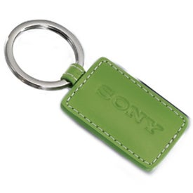 Limelight Rectangular Leather Key Fob for Advertising
