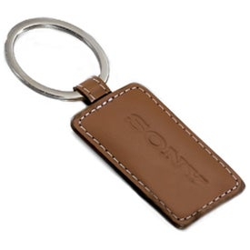 Logo Limelight Rectangular Leather Key Fob