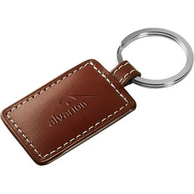 Limelight Rectangular Leather Key Fob Branded with Your Logo