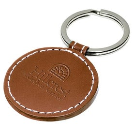 Promotional Limelight Round Leather Key Fob