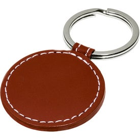 Customized Limelight Round Leather Key Fob