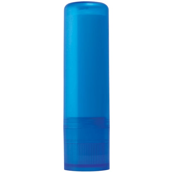 Frosted Blue Lip Balm In Color Tube