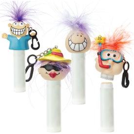 Advertising Lip Balm with Goofy Head