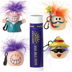 Advertising Lip Balm with Goofy Head