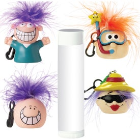 Monogrammed Lip Balm with Goofy Head