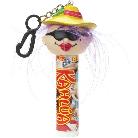 Lip Balm with Beach Lady Clip Lip Balm with Goofy Head