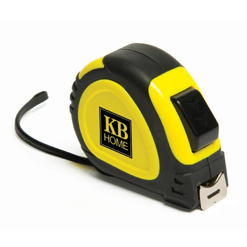 Yellow with Black Accents Locking Tape Measure
