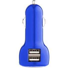 Imprinted Plastic USB Car Charger