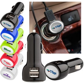 Promotional Plastic USB Car Charger