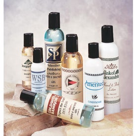 Lotions in Wood Box Branded with Your Logo