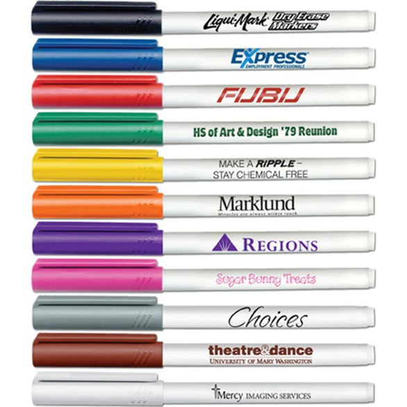 Promotional Low Odor Fine Point Dry Erase Markers with
