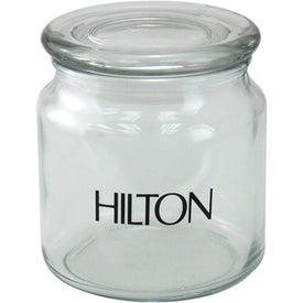 Advertising Luna Round Glass Jar
