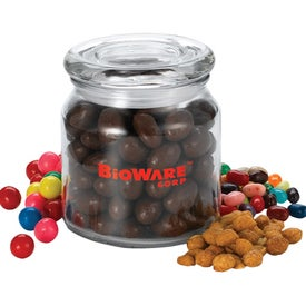 Luna Round Glass Jar (16 Oz., Heavy Snack Fill)