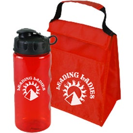 Promotional Lunch Tote and Bottle Combination Pack