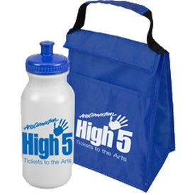 Custom Lunch Tote and Bottle Combo Pack