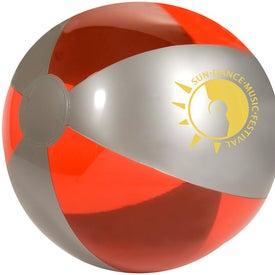 Branded Luster Tone Beach Ball