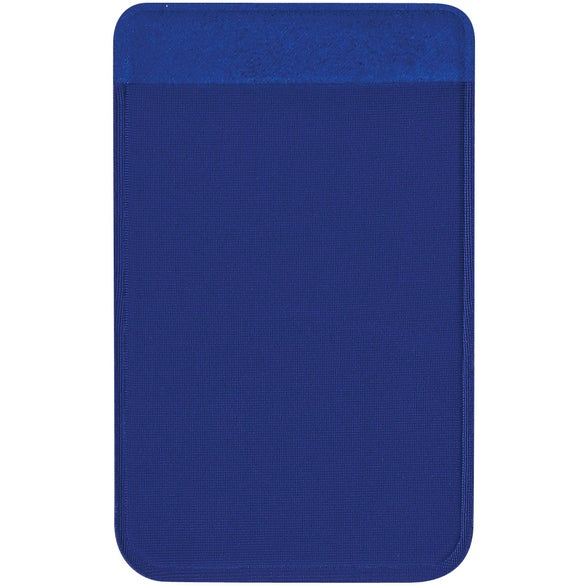Blue Lycra Card Sleeve For Mobile Devices