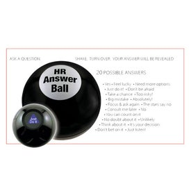 Printed Customizable Magic Answer Ball