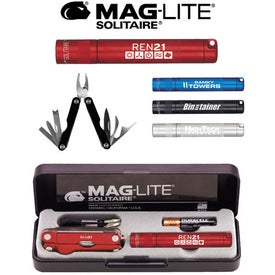 K3A Mag-Lite Solitaire & Multi-Function Tool Combo Printed with Your Logo