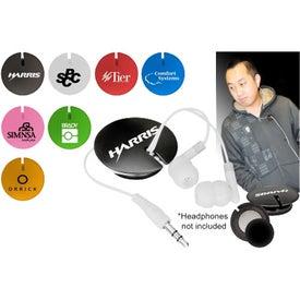 Magnetic Ear Bud Organizer for Advertising