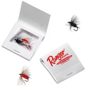 Matchbook with 3 Fishing Flies