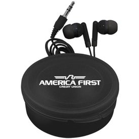 Personalized Matching Ear Buds and Round Case