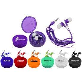 Matching Ear Buds and Round Case for Customization