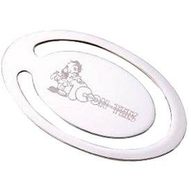 Matte Silver Oval Bookmark