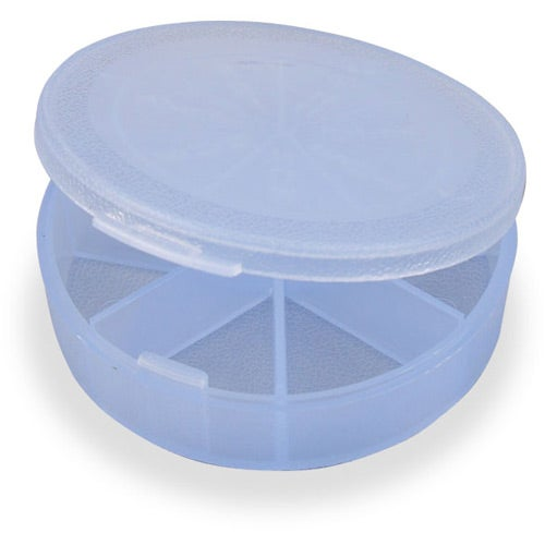 Crystal Blue Med-Week Seven-Compartment Pill Box
