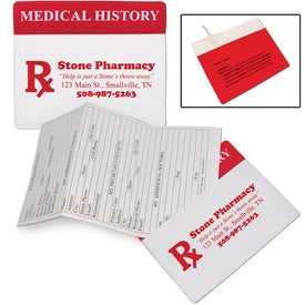 Vinyl Medical History Organizer Imprinted with Your Logo