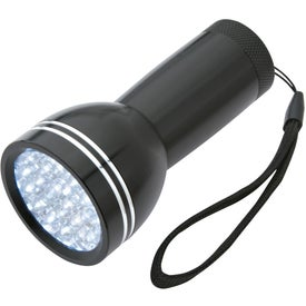 Mega Bright Aluminum LED Light With Strap Imprinted with Your Logo