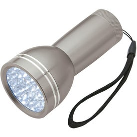 Branded Mega Bright Aluminum LED Light With Strap