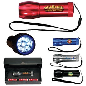 Mega Might LED Metal Flashlight Imprinted with Your Logo