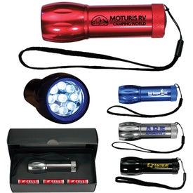 Mega Might LED Metal Flashlight (Screen Print)