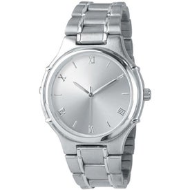 Men's Silver Tone Watch (Stainless Steel Band)