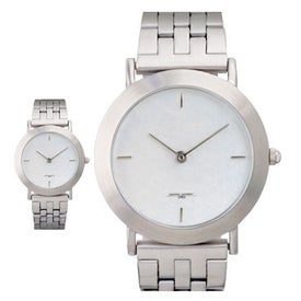Promotional Brushed Silver Men's Watch Bracelet Style