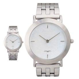 Promotional Brushed Silver Men's Watch Bracelet Style
