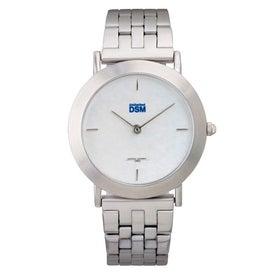 Brushed Silver Men's Watch Bracelet Style