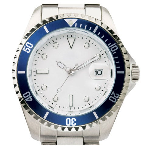 Silver Finish Men's Watch