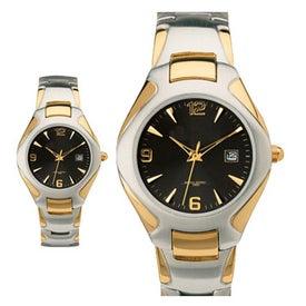 Customized Two Tone Men's Watch Bracelet Style