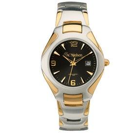 Two Tone Men's Watch Bracelet Style