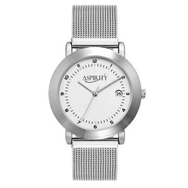 Brushed Silver Mesh Bracelet Styles Mens Watch