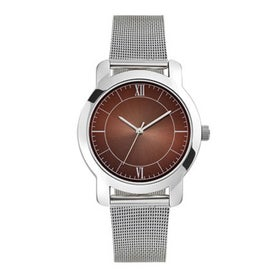 Mesh Bracelet Styles Mens Watch Imprinted with Your Logo
