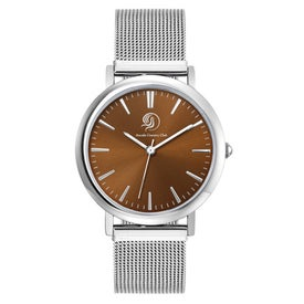 Polished Silver Mesh Bracelet Styles Mens Watch