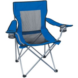 Branded Mesh Folding Chair with Carrying Bag